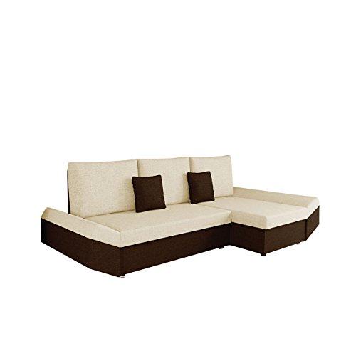 Mirjan24  Ecksofa Moric Eckcouch Sofa mit Schlaffunktion und Bettkasten! Ottomane Universal, inkl. Kissen Couch, Schlafsofa Bettsofa vom Hersteller