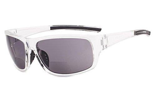 Eyekepper Bifokale Sonnenbrille +2.00 Stärke Lesen Sonnenbrillen (Transparenten Rahmen)