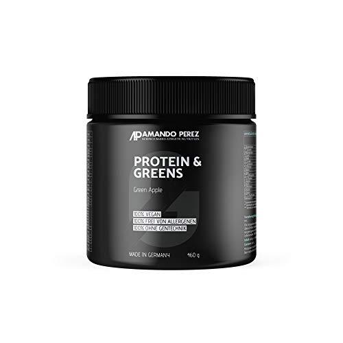 Protein & Greens - 100% Vegan Energy Protein Drink - Green Apple - 460 g - Frucht-smoothie-drinks