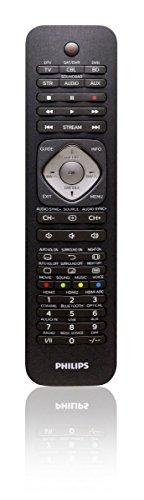 Philips SRP5016/10 Universal Fernbedienung (6-in-1, TV, Blu-ray, STB, STR, SB, AUX) schwarz