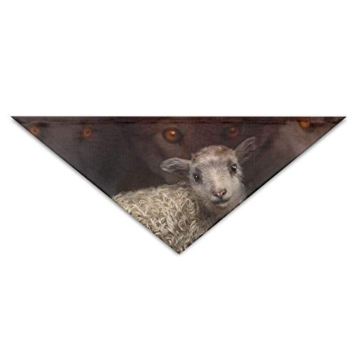 Gxdchfj Wolves Painting Sheep Art Triangle Pet Scarf Dog Bandana Pet Collars Dog Cat - Birthday