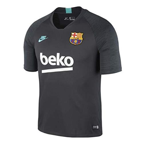 Nike Breathe FC Barcelona Strike Camiseta, Hombre, dk Smoke Grey/Dark Grey/Cabana, L