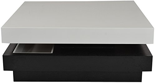 Furniture Concepts FCI-0133 Coffee Table (Black and White)