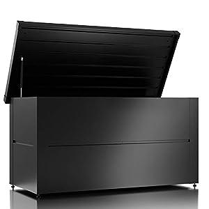ILESTO Metall Kissenbox wasserdicht/ Gartenkiste Auflagenboxen/Garten box Aufbewahrungsbox Gartenauflagen Gerätebox 401…