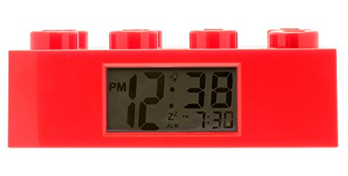 LEGO - Alarm Brick Clock, despertador, color rojo (9002168)