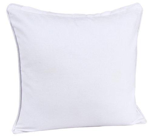 Homescapes dekorative Kissenhülle Plain Colour, eierschalen weiß, 60 x 60 cm, Kissenbezug mit Reißverschluss aus 100% reiner Baumwolle