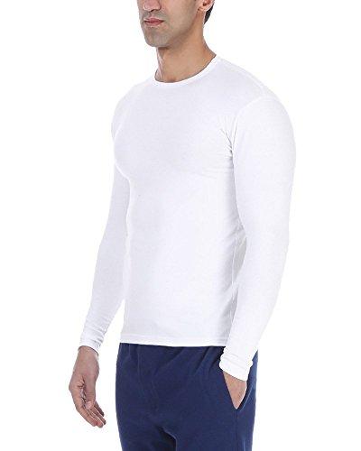 Solo® Long sleeve. Herren Unterhemden. Cotton Stretch, elastischer Herren Unterhemd, sehr weich, Langärmliges T-Shirt. Round Neck. ägyptischer Baumwolle. Roundhalsasschnitt, Farben und Größen. Weiß