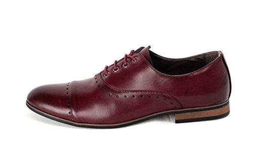 Hommes À Lacets Élégantes Mariage Chaussures De Bureau Italian Robe Travail Décontracté Habillé taille UK Bordeaux
