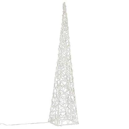 Nipach-LED-Pyramide-Lichterkegel-Beleuchtung-fr-Weihnachten-innen-auen-Acryl-Figur-mit-Trafo-IP44-60-Leuchten-wei-90-cm-hoch