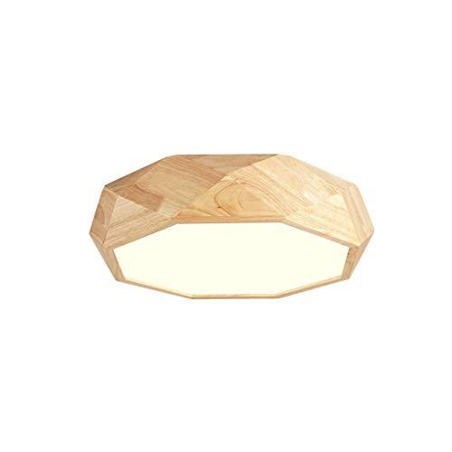 Holz Kreative Studie Wohnzimmer Lampe Geometrische Deckenleuchte Schlafzimmer Lampe Massivholz Atmosphärische Schlafzimmer Lampen (Größe: 42 cm) -