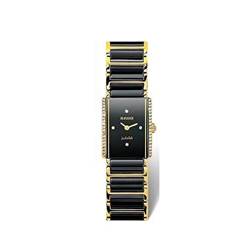 Rado Integral Jubilé Uhr aus Keramik, schwarz, Gold und Diamanten, Ref. R20339712