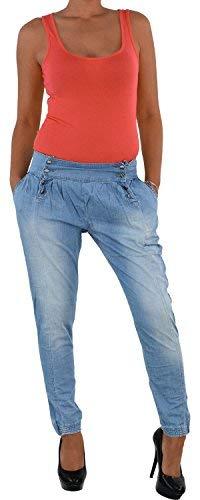 Harem Damen Jeans (Sotala Aladin Baggy Harem Pumphose Boyfriend Chino Jeans Boyfriendhose Pluder Hose 150 38)