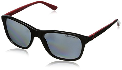 Ralph lauren polo 0ph40854581 occhiali da sole, nero (shiny black/polar grey), 55 uomo