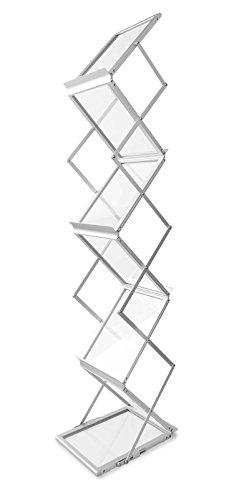 Prospektständer faltbar im Koffer, Aluminium/Acrylglas, für 6x DIN A4