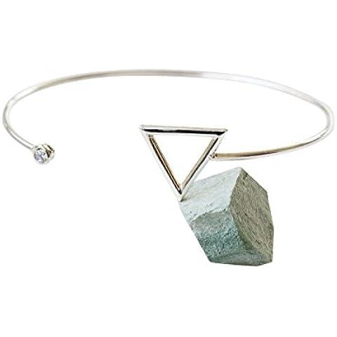 925 Colore In mezzo perla perlina braccialetto-fmperline braccialetto, pietra preziosa braccialetto, pietra braccialetto, colore braccialetto, (Fortunato Braccialetto Della Pietra Preziosa)
