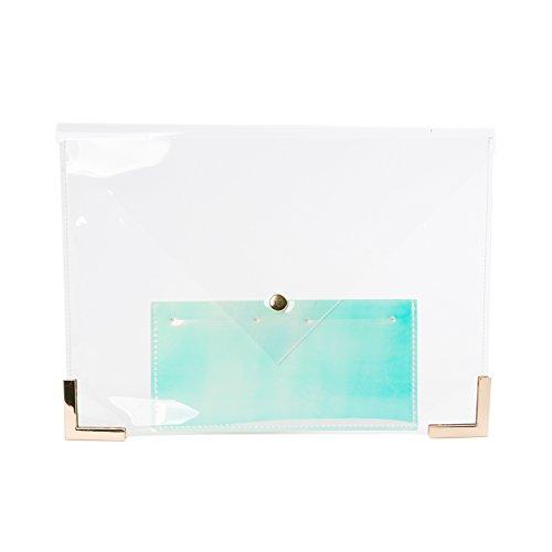 Zarapack, Poschette giorno donna trasparente Transparent M Style 2