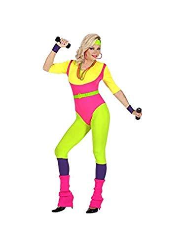 Jahre Halloween 80er Aerobic Kostüm - Widmann 48419 Kostüm 80er Jahre Aerobic Trainerin, Mehrfarbig