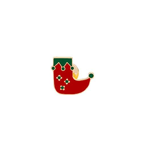 Weihnachtsbaum Stiefel Weihnachtsmann Jingle Bell Brosche Winter Emaille Pins Frauen Jacken Revers Pin Abzeichen Kinder Schmuck Geschenke, Stiefel