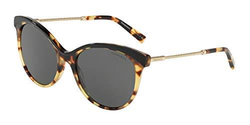 Tiffany & Co. Tf4149-82563F Sonnenbrille W/grau Objektiv 55mm Schwarz/Gelb Havana