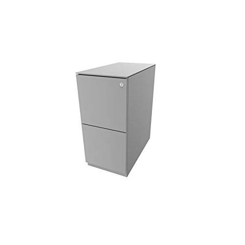 Bisley Rollcontainer Note - 7 mm Top, 2 HR-Schubladen, HxBxT 652x300x565 mm - Rollcontainer für...