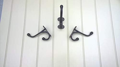 Compatible for Vintage Black hook Hook HEAVY CAST IRON COAT HOOK - -