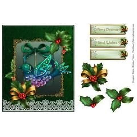 Ornamento de la Navidad de pájaro de 6 x 7 por María Cristina Vieira