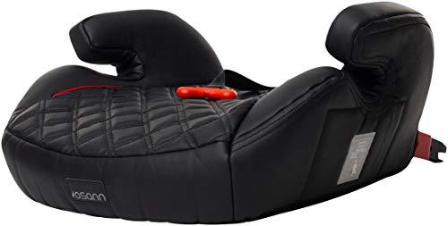 Osann Kindersitzerhöhung Junior Isofix Gurtfix Gruppe 2/3 (15-36 kg) (Black Leather)