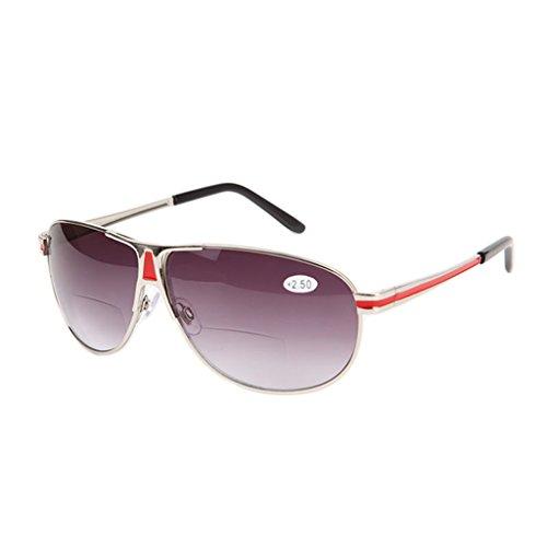Manyo Lesebrille mit doppeltem Gläser, Vintage, klassisch, Männer und Frauen, 1,0 bis +3,5 Sonnenbrille für ältere Menschen, Unisex