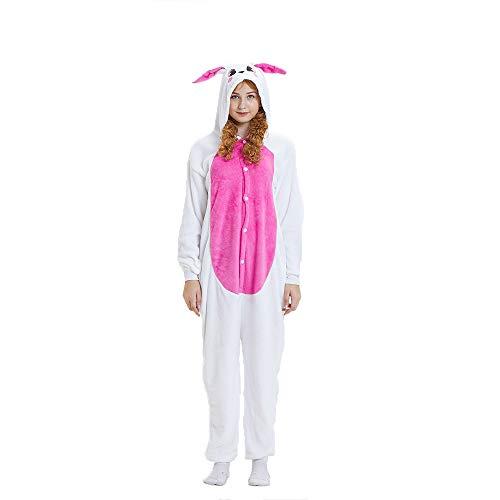 (NN IKEA Schlafanzug Tierkostüme Pyjamas Cartoon Cosplay Weihnachten Karneval,Red,L)