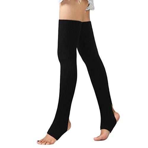 Zerama 1 Paar Frauen-Mädchen-Bein-Wärmer Socken Lange Fußlose Socken Winter Herbst Tanz Yoga Ballett-Strümpfe