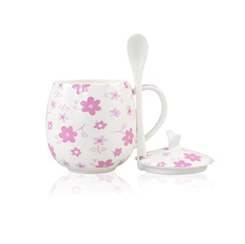 Yiszj Tasse Isolierbecher Teetasse Knochenporzellan Knochenporzellan Bürotasse Getränketasse Safttasse Kaffeetasse Rot Rosa Schönheit