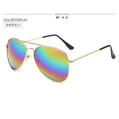 2018 Sterne Männer und Frauen mit Sonnenbrille Visier Spiegel bunte Spiegel Paar Brille Sonnenbrille schwarzer Rahmen schwarz grau Brille Brille Brille Brille Tasche, Goldrahmen Regenbogen Film _ B