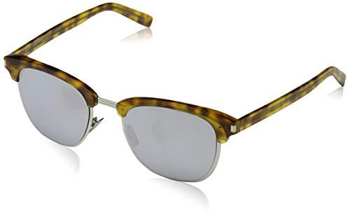 Saint Laurent Herren SL 108 SLIM 002 51 Sonnenbrille, Avelana/Silver,