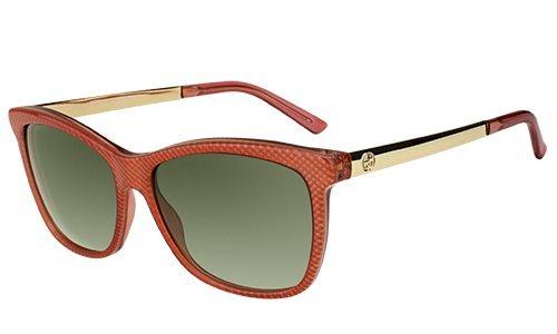 Gucci Sonnenbrille GG 3675/S 4WS 56PN (56 mm) orange/beige