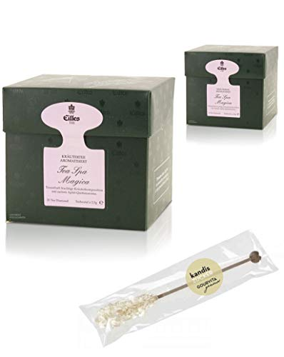 EILLES Tea Diamonds Spa Magica Mega-Sparset mit 2 Boxen und gratis Kandisstick von Gourvita Moments -