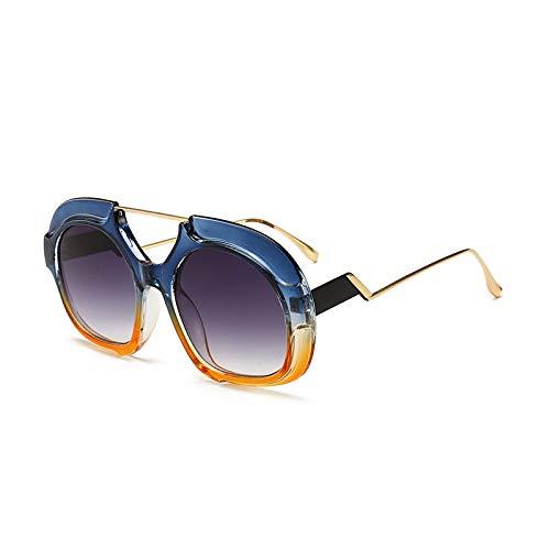 Yangjing-hl Big Box Trend Mode Sonnenbrille Zweifarbig Sonnenbrille Herren Damen Sonnenbrille, 4, Einheitsgröße