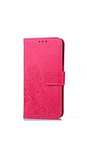 ELECTROPRIME® Clover Embossed Phone Shell Case Cover for Samsung S7 (Rose Red)