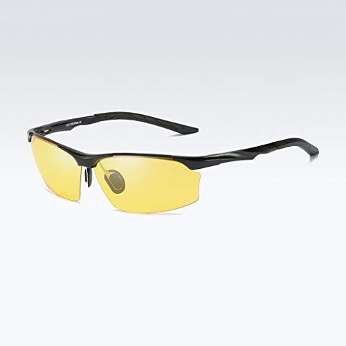 Herren sonnenbrillen Polarisierte Sonnenbrille. Tag und Nacht Universal-Polarisator. Ideal for das Fahren oder sportliche Aktivitäten. UV-Schutz Fahrgolf-Angelsport-Sonnenbrille. UV400-Schutz.