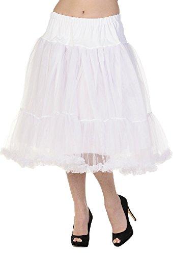 Gebannt Petticoat 25,5-Zoll-langes Rock- White