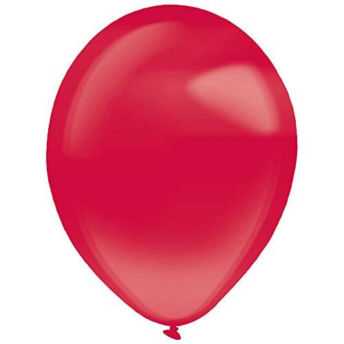 amscan 9905329 - Globos de látex (100 Unidades), Color Rojo