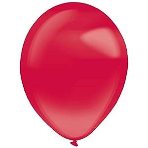 amscan 9905449 - Globos de látex (50 Unidades), Color Rojo