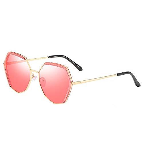 HYH Neue Farbdamen Polarisierten Sonnenbrilleart Und Weisepolygon-Rahmenmetallgläser Im Freien Spielraum UV400 Schutz Schönes Leben (Farbe : Red)