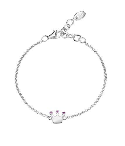 Esprit Damen-Armband 925 Silber rhodiniert Zirkonia Rundschliff 13,5 cm ESBR91820A135