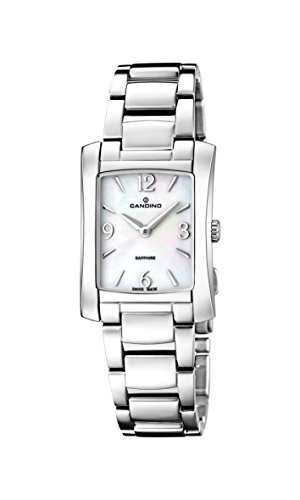 Candino reloj de cuarzo para mujer con Madre de Pearl Esfera Analógica Pantalla y Pulsera de acero inoxidable (Plata C4556/1