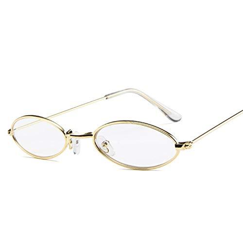 Onizah - Vintage Oval Sonnenbrillen Damen/Herren Retro Clear Lens Eyewear Sonnenbrillen für Damen UV400 [Clear]