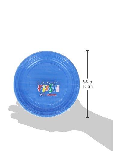 Juego de 50 Platos de pl/ástico de Color Azul Fiesta