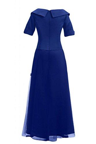 Sunvary a maniche lunghe in stile cinese da sera, Donna Royal Blue