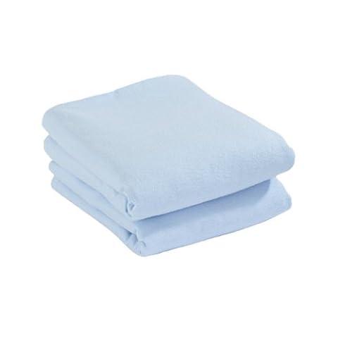 Cuddles Collection Spannbettlaken, Flanell (blau, 2Stück)