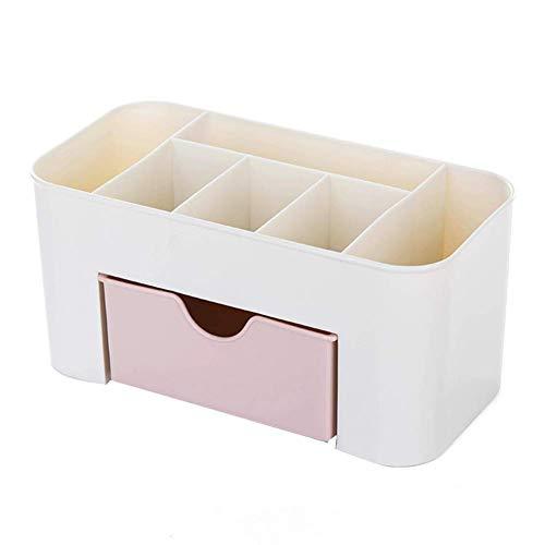 Ogquaton Joyero Caja de Maquillaje de Escritorio Organizador Estuche de Almacenamiento Portátil Peso Ligero Bolsa de cosméticos Pendiente Pulsera Anillo Collar Mujeres Rosa