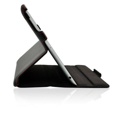 Echt Leder 4 Covers Ipad (Manna Apple iPad 4 Hülle | Smart-Cover Sleep Funktion | aufstellbar | farblich abgesetzte Naht im sportlichen Design | iPad 3 Case iPad 2 Tasche Schutzhülle Cover)
